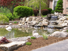 Dekoratyvinio baseino aplinkos irengimas