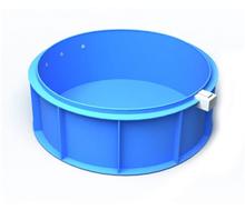 Ovalus plastikinis vidaus arba lauko baseinas