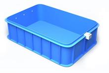 Stačiakampis plastikinis vidaus arba lauko baseinas