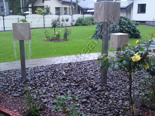 "Lauko dekoratyvinis fontanas ""Kubikai"""