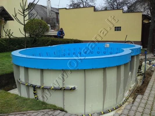Plastikinis lauko baseinas
