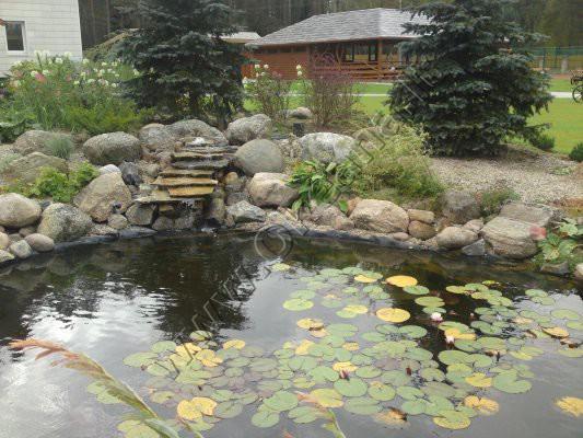 Dekoratyvinio baseino įrengimas ir aplinkos sutvarkymas