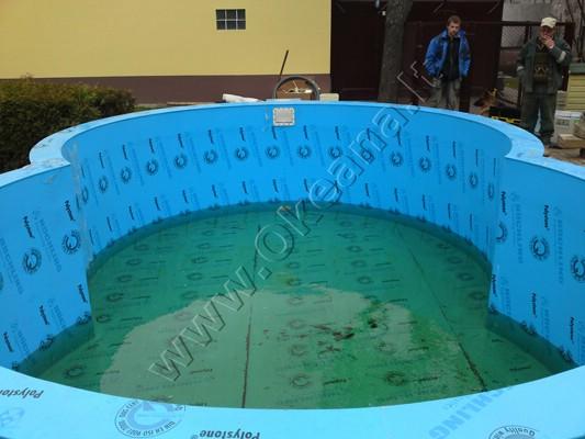 Nestandartinės formos plastikinis baseinas