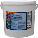 Greito tirpimo chloro granulės.