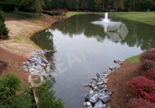Dirbtinis tvenkinys su fontanu. Projektas #9